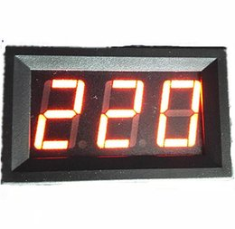 Wholesale Display Digital Ac - Mini 0.56 inch AC70V-500V Red LCD Digital display Voltage Meter Voltmeter Panel Portable Tool with two wire