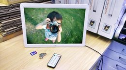 """Wholesale 15 Digital Picture Frames - brand new and with packing box 15"""" LED HD High Resolution Digital Picture Photo Frame + Remote Controller US Plug Black White Color Newest"""