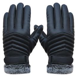 Wholesale Glove Thermal - Men's Gloves Leather Winter Mittens Anti Slip Screens Thermal Ski Gloves Hand Warmer Gloves For Men gants homme Guantes