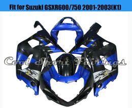 Wholesale Cheap Motorcycle Fairings Kits - Blue Fairing 01GSXR Fairing Kit Fit for Suzuki GSXR600 750 2001 2002 2003 K1 Plastic Bodywork Bodyframe for Motorcycle Cheap Fairing