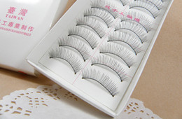 Wholesale Natural Hair Designs - thick false eyelashes large order by Jillion fast shipping 7 designs 10 pairs lot pink free shipping