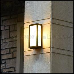 Wholesale European Led Outdoor Wall Lamp - European Modern Minimalist Creative Retro Waterproof LED Outdoor Wall Lamps Garden Terrace Balcony Villa Lights Lighting