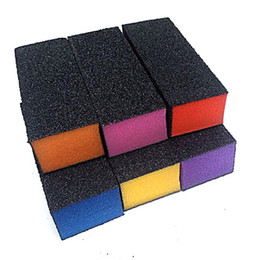Wholesale Buff Color - Wholesale- 5pcs Lot black Sanding block mix color heart Buffing Sanding Buffer Files Block Acrylic Nail Art Manicure Set New design,Perfect