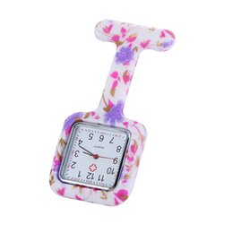 Wholesale Free Price Tags Print - Factory price 2017 hot Colorful Prints Silicone Nurse Pocket Watch Doctor Fob Quartz Watch Kids Gift Watches Fashion Patterns Free DHL