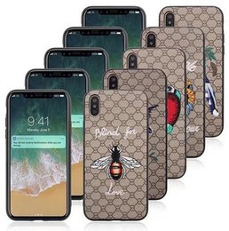 Wholesale Stylish Mobile Cover Wholesale - For iPhone X Animal Embroidery Case Hybrid TPU+PC Fashion Stylish Mobile Phone Shockproof Protective Skin Cover For iPhone 8 7 Plus 6 6S