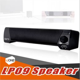 Wholesale Pc Sound Bar - LP-09 Bluetooth Speaker TV Sound Bar 4.0 Channel Bluetooth with Remote Control Speaker USB Stereo Speaker 3.5mm Aux TF Card For TV PC