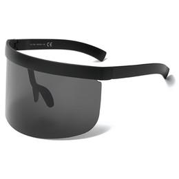Wholesale mask mix - Vintage Extra Oversize Shield Visor SunglassesOversized Lenses Mask Men Women Brand Glasses Designer Fashion Male Female Goggles UV400 L117