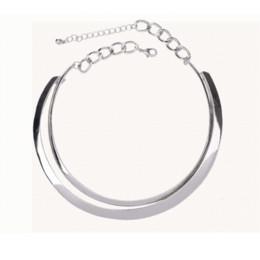 Chokers negros baratos online-Dorado nueva llegada 3 colores oro / plata / negro collar de gargantilla de aleación barata moda punk joyería joyería barata aguja