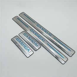 Wholesale Nissan Door Sill Plate - For Nissan Qashqai Door Sill Scuff Plate Stainless Steel Door Sills Pedal Threshold Car Styling Sticker 2015 2016 2017