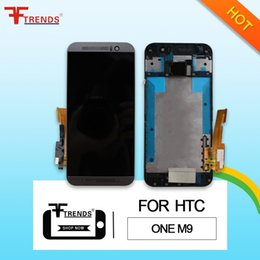 Wholesale full house complete - for HTC One M9 LCD Display & Touch Screen Digitizer with Front Housing Bezel Complete Full Assembly 100% Tested Top High Quality AAA
