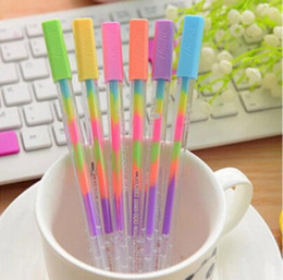 Wholesale Chalk Paintings - DIY Cute Kawaii Water Color Chalk Paint Gel Pen for Kids Diary Decoration Scrapbooking Korean Stationery Free shipping G1187