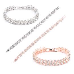 Canada Femmes Mode Roman Style Cristal Diamant Bracelet Bracelets Charme Élégant Strass Bracelets Cadeaux 3 Couleurs D274L Offre