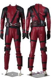 Wholesale Custom Deadpool - HOT Cosplay Costume Chrismas Halloween Popular Marve Superhero Battleframe Deadpool X-Men Cosplay Costume Outift Costume-Made Jumpsuits