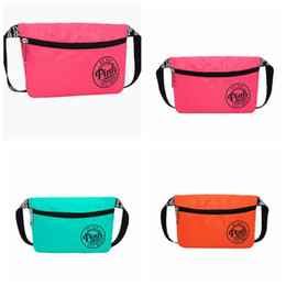 Wholesale Fanny Pack Fashion - 3 Colors Pink Fanny Pack Pink Letter Waist Belt Bag Fashion Beach Travel Bags Waterproof Handbags Purses Outdoor Cosmetic Bag CCA6860 50pcs