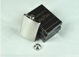 Wholesale 3oz Stainless Steel Flasks - 3oz stainless steel hip flask with funnel ,flask,pocket flask , wine flask , liquor flask,flachmann Lead free , passed FDA test