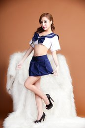 Wholesale Hot Cheap Babydoll - 2017 hot sale cheap babydoll free shipping cosplay student cloth cutton for women sexy lingerie erotic