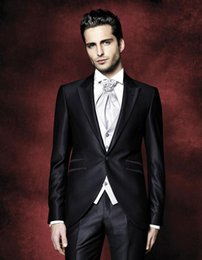 Wholesale Cheap Black Pants For Sale - Hot Sale Wedding Mens Suits Two Pieces Bridegroom Tuxedos For Men Groomsmen Cheap Formal Business Slim Fit Prom Suit(Jacket+Pants)
