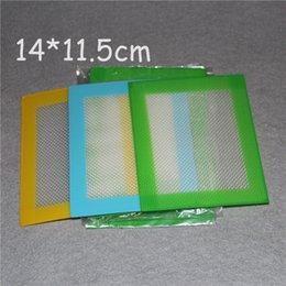 Wholesale Oem Toys - Wholesale OEM Non-stick Silicone Wax Mats 14*11.5mm (4.5*5.5 inch) silicone BHO Wax Dab Pad Wax Mat Free Shipping DHL