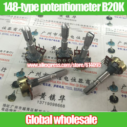 Wholesale Yellow Flower Types - Wholesale- 4pcs 148-type Within bent pin single joint potentiometer B20K   handle length 35MM flower yellow shell