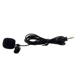 Wholesale Desktop Conference Microphone - Hot New 3.5mm Mini Studio Speech Mic Microphone w  Clip for PC Desktop Notebook Worldwide Whosale