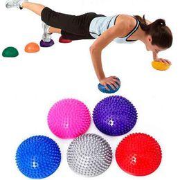 Wholesale Wholesale Stability Balls - Wholesale-Yoga Fitness Ball Massage Half Ball Stability Gymnastic Exercise Yoga Gym Fitness Pilates Ball Weight Ball 250kg Anti Burst
