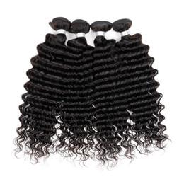 "Wholesale Discount Hair Bundles - Biggest discount Deep Wave 3 bundles Deep Wave Malaysian 8""-30""100% Human Hair Unprocessed Hair weaves Malaysian Deep Wave Hair bundles"