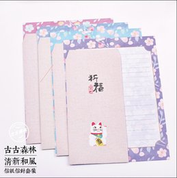 Wholesale Cute Stationery Envelopes - Wholesale- Hot Lovely Cute Good Quality Letterform Craft Letter Paper Stationery Nice Envelope School Supply Use Promotional Gifts PL