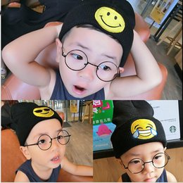 Wholesale Kids Hip Hop Accessories - Baby Kids Toddler Hat CapWinter Boy Girl Beanie WarmKnitted Hats Caps Kids Newborn Clothing Accessories Emoticons Emoji Hat Cap Hip-hop hat