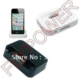 Wholesale Dock Charger Station 4s - Wholesale-Dock Cradle Charger Station for iphone 2g, 3g, 3gs, 4G & 4S by free DHL, UPS or EMS; white or black color available; 5pcs lot