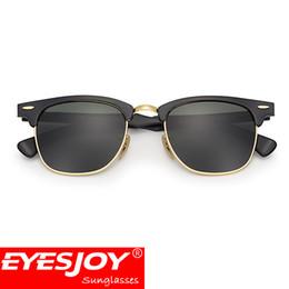 Wholesale Unisex Brown Sunglasses - classic Sunglasses for men Brand Designer Sunglasses High Quality UV400 51mm Unisex Metal Women Sunglasses brands With Original Box