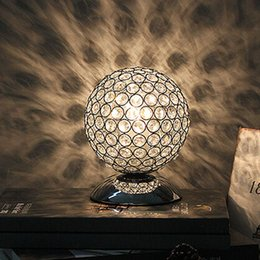 Wholesale Office Table Decorations - Modern K9 Crystal Table Lamp Bedside Living Room Office Lampshade Decoration Lighting E27 table light AC85-240V
