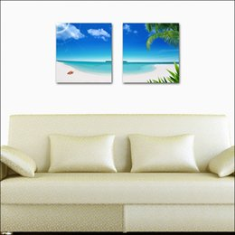 Wholesale Flowers Sketches - unframed 2 Pieces Home decoration Canvas Prints Seaside scenery Abstract black and white flowers Sketch marriaged spouse chinese characters