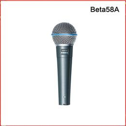 2019 meilleurs microphones à fil Haute qualité Beta58A version vocale karaoké microfone dynamique filaire microphone portatif livraison gratuite
