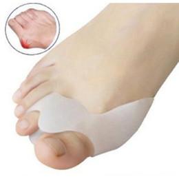 Wholesale toe separator pads - 1Pair Soft Silicone Gel Toe Separators Straightener Bunion Protector Pain Relief Cushion Pad Foot Care Hallux Valgus Correction