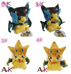 Wholesale video game center - 4designs Poke Center Mega Tokyo Pikazard Pikachu Charizard Magikarp Brinquedo Plush Toys Stuffed Doll plush toys gifts D859