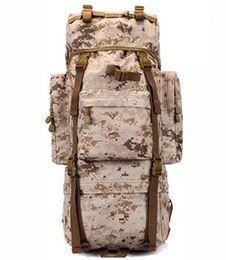 Wholesale Military Metal Box - 70 L Metal Bracket Backpack Outdoor Sports Bag Military Tactical Bags Hiking Camping Waterproof Wear-resisting Nylon Bag D033