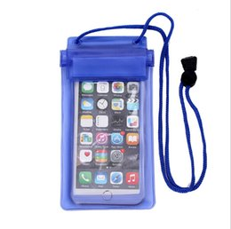 Wholesale Three Mobile Cell Phones - Three - layer sealed mobile phone waterproof bag PVC phone waterproof cover For Samsung iPhone Cell Mobile Phone