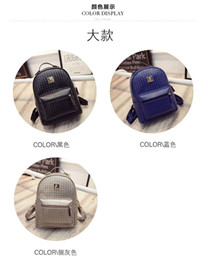 Wholesale Patchwork Japanese Bag - 2015 autumn new female bag woven shoulder bag backpack Japanese and Korean version of the influx of female students College wind bag lady ba