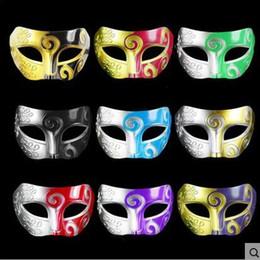 Wholesale Wholesale Plastic Mardi Gras Masks - Masquerade Masks Halloween Christmas Fancy Dress Plastic Half Face Party Mask Knight Prince Masks Mardi Gras Gifts CCA7657 1000pcs