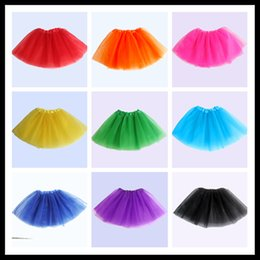 Wholesale Yellow Ballet Skirt Kids - New Hot Sales Baby Girls Skirts Childrens Kids Dance Clothing Tutu Skirt ballerina skirt Dance wear Ballet Fancy Skirts Costume 2721