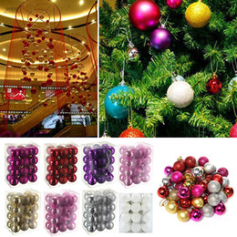 Wholesale Glitter Ball Ornaments - 3cm Glitter Christmas Balls Baubles Xmas Tree Ornament Christmas Decor