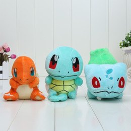Wholesale Video Game Center - In Stok Center plush Bulbasaur Charmander Squirtle 12-14cm Newest Collectible Plush Toy Soft Stuffed Doll