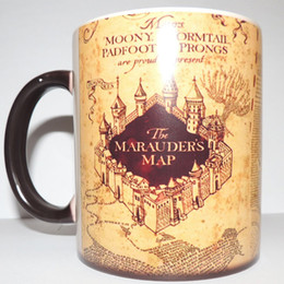 Wholesale Color Change Heat - Harry Potter Marauder Map Color Changing cup mug Magic heat sensitive Coffee Mug Tea Cup gift Free Shipping