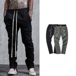 Wholesale High Waist Harem - High Street Fashion Pants Men Spring Autumn Pencil Pants Elastic Waist Long Belts Design Streetwear Trousers Hip hop Harem Pants