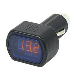 Wholesale Electric Auto Meter - 2Pcs Auto Car Electric DC 12V-24V LED Display Cigarette Lighter Battery Voltage Meter Tester Car Digital Voltmeter