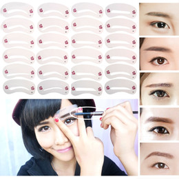 Wholesale Diy Cards - 72Pcs Mixed Different Styles Eyebrow Stencils Eyebrow Drawing Guide Card Models Template DIY Beauty Shape Make Up Tools