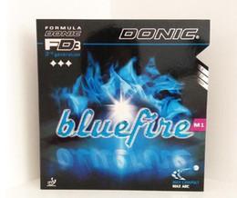 Tenis donic online-Donic Blue fire M1 Bluefire Pips-in Milky esponja blanca Tenis de mesa Espuma fuerte Espinillas En Caucho Ping Pong
