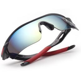 Wholesale Colorful Plastic Sunglasses - 2016[explosion] men and women sunglasses outdoor sports mirror glasses 9181 colorful glasses Parkour explosion-proof riding