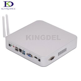 Wholesale Mini Desktop Windows - Wholesale-3 Years Warranty Intel Braswell Celeron N3150 Quad Core Fanless Mini Computer Windows 10 HTPC 8GB RAM Industrial Desktop PC