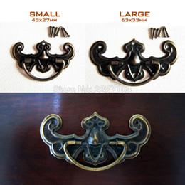 Wholesale Wholesale Decorative Drawer Knobs - Wholesale- 6pcs Decorative Antique Brass Vintage Jewelry Chest Furniture Dresser Cabinet Cupboard Drawer Handle Pull Knob Bat Shape 2 size